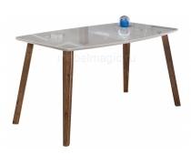 Стеклянный стол Серсея грей / орех кантри (LM)
