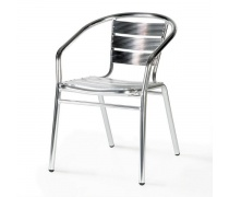 Стул алюминиевый LFT-3059 Silver metallic (AM)