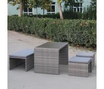 Плетеный диван-трансформер S330G-W78 Grey (AM)