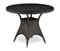 Плетеный стол T220CBT-W52-D96 Brown (AM)