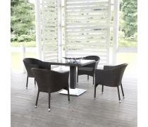 Комплект плетеной мебели T606SWT/Y350W-W2390 Brown 4Pcs (AM)