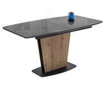Стол на тумбе Теон графит / лиственница (LM)
