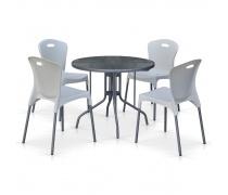 Комплект мебели для кафе TD90/XRF065AW-White (4+1) (AM)