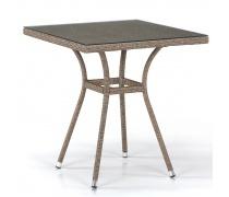 Плетеный стол T282BNT-W56-70x70 Light Brown (AM)
