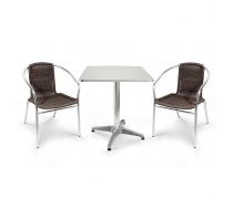 Комплект мебели  LFT-3099B/T3125-60x60 Brown (2+1) (AM)