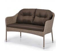 Плетеный диван S54B-W56 Light brown (AM)