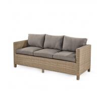 Плетеный диван S65B-W65 Light Brown (AM)