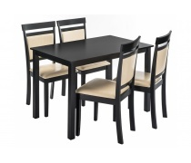 Обеденная группа Modis (стол и 4 стула) cappuccino / cream (LM)