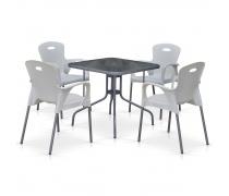 Комплект мебели для кафе TL80x80/XRF065BW-White (4+1) (AM)