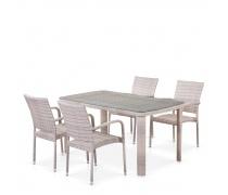 Комплект плетеной мебели T51A/Y376-W85-150x85 4Pcs (AM)