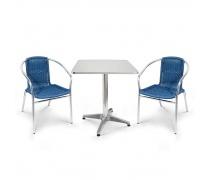 Комплект мебели  LFT-3199E/T3125-60x60 Blue (2+1) (AM)