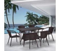 Комплект плетеной мебели T198D/Y137C-W53 Brown 6Pcs (AM)
