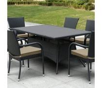 Плетеный стол AFM-170S Black (AM)