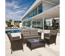 Плетеный комплект для отдыха с диваном AFM-804 Brown (AM)