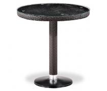 Плетеный стол T504T-W2390-D70 Brown  (AM)