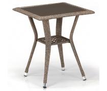 Плетеный стол T25-W56-50x50 Light brown (AM)