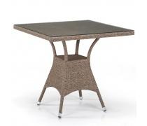 Плетеный стол T197BT-W56-80x80 Light brown (AM)