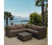Комплект плетеной мебели  YR825A Brown/Beige (AM)