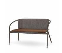 Плетеный диван S139A-W53 Brown/Beige (AM)