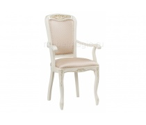 Кресло Клето патина золото / ромб