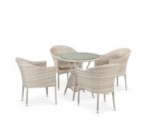Комплект плетеной мебели T705ANT/Y350-W85 4Pcs Latte (AM)