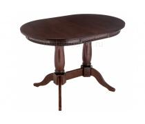 Деревянный стол Кантри 120 орех с коричневой патиной (LM)