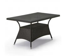 Плетеный стол T198A-W53-140x80 Brown (AM)