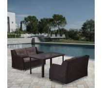 Комплект плетеной мебели T51A/S51A-W53 Brown (AM)