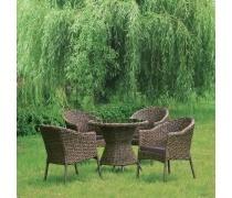 Комплект плетеной мебели RT-A52 Brown  4Pcs (AM)