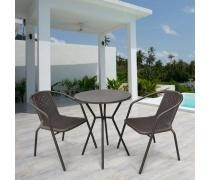 Комплект мебели Асоль-5 LRC01/LRT01-D60 Dark Brown (2+1) (AM)