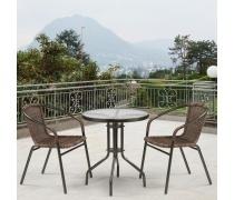 Комплект плетеной мебели Асоль-1C  TLH-037BR3/TLH060-D60 Brown (2+1) (AM)