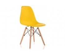 Пластиковый стул Eames PC-015 желтый