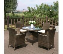 Комплект плетеной мебели AFM-410RD90 4Pcs (AM)