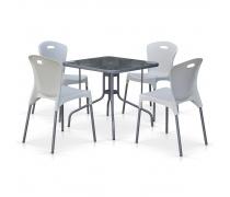 Комплект мебели для кафе TL80x80/XRF065AW-White (4+1) (AM)