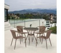 Комплект плетеной мебели T282ANT/Y137C-W56 Light Brown 4Pcs (AM)