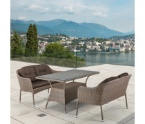 Комплект плетеной мебели T198B/S54B-W56 Light brown (AM)