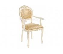 Кресло Лауро патина золото / бежевый тесьма 11