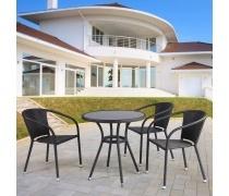 Комплект плетеной мебели T282ANS/Y137C-W53 Brown 3Pcs (AM)