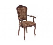 Кресло Руджеро с мягкими подлокотниками орех / шоколад