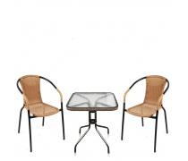Комплект мебели  Асоль-2LB TLH-037С-TLH060SR-D60 Light Beige (2+1) (AM)