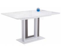 Стол на тумбе Санса 140 белый / белая шагрень (LM)