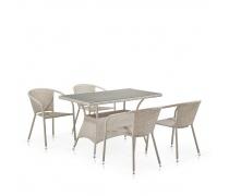 Комплект плетеной мебели T198D/Y137C-W85 Latte (4+1) (AM)
