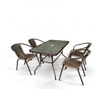 Комплект мебели Николь-3B CDC01/CDT016-120х70 Brown (4+1) (AM)