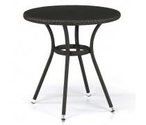 Плетеный стол T282ANS-W53-D72 Brown (AM)