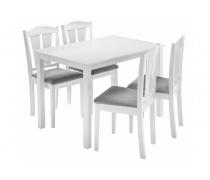 Обеденная группа Mali (стол и 4 стула) white / grey (LM)