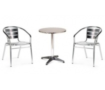 Комплект мебели LFT-3059/T3127-D60 Silver (2+1) (AM)