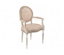 Кресло Данте молочный с золотой патиной