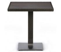 Плетеный стол T607D-W53-70x70 Brown (AM)