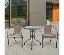 Комплект мебели Асоль-1A TLH-037AR3/060RR-D60 Cappuccino (2+1) (AM)