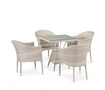 Комплект плетеной мебели T706/Y350-W85 4Pcs Latte (AM)